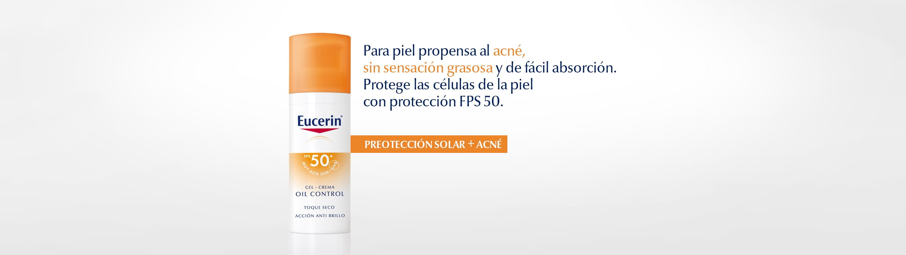 Eucerin Sun Protection Oil Control FPS 50, efecto anti-brillos